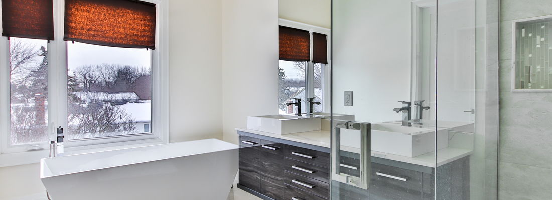 Jack and Jill bathroom design and fitting Bromley